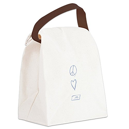 CafePress - Peace, Love, Montessori - Canvas Lunch Bag with