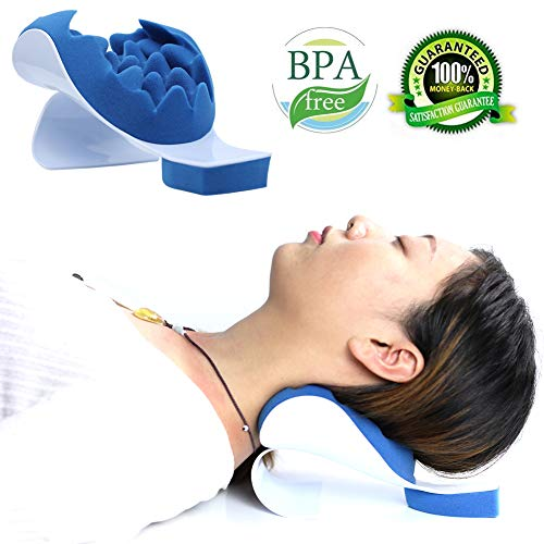 REARAND Neck and Shoulder Relaxer Neck Pain Relief and Support Shoulder Relaxer Massage Traction Pillow Chiropractic Pillow for Pain Relief Management and Cervical Spine Alignment