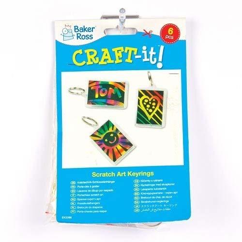 confezione da 8 Baker Ross Cornici Scratch Art per Bambini da Creare Personalizzare ed Esporre come Idea Creativa