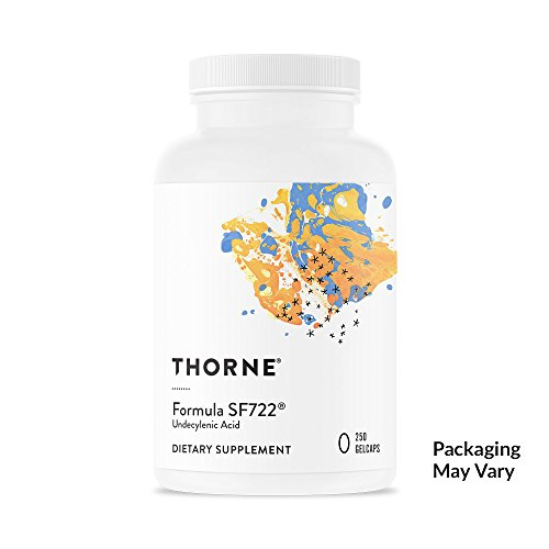 Thorne Research - Formula SF722 - Undecylenic Acid for Gastrointestinal and Gut Flora Support - 250 Gelcaps