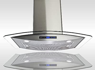"AKDY New 30"" European Style Wall Mount Stainless Steel Glass Range Hood Vent Touch Control AZ-688/CS14 30"""