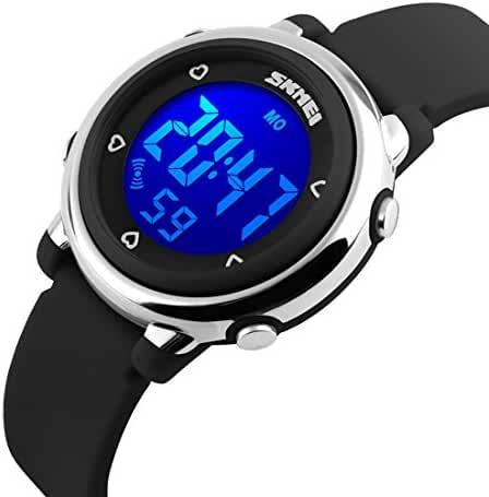 USWAT Children Digital Watch Outdoor Sports Watches Boy Kids Girls LED Alarm Stopwatch Dress Wristwatches Black