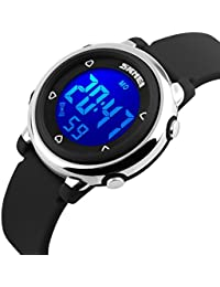 Kid Watch Multi Function 50M Waterproof Sport LED Alarm Stopwatch Digital Child Wristwatch for Boy Girl Black