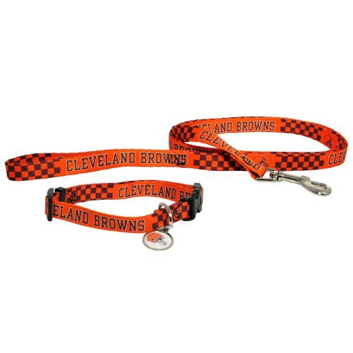 Amazon.com   Cleveland Browns 3pc Pet Set Dog Leash Collar ID Tag SMALL    Pet Leash Collar And Harness Supplies   Sports   Outdoors bd2b44f34