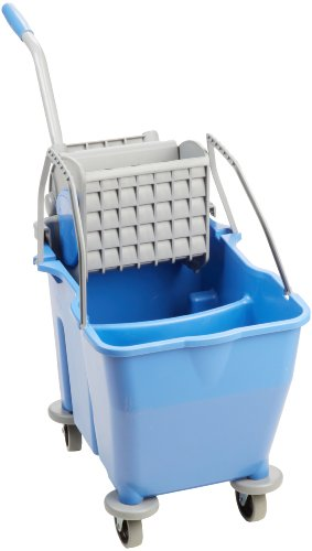 O'Dell 30 QT. Dual Chamber Bucket, Blue, Side Press Wringer MWMF30B-SP by O'Dell
