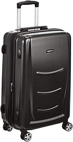 Amazon Basics Hard Shell Carry On Spinner Suitcase Luggage - 22 Inch, Slate Grey