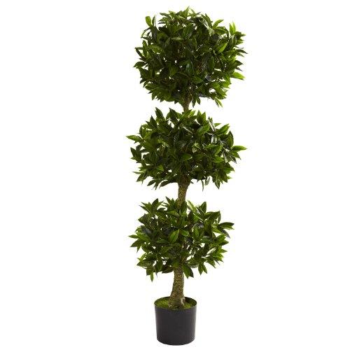 5' Triple Ball Bay Leaf Topiary UV Resistant (Indoor/Outdoor)