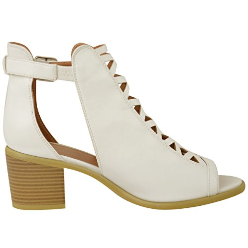 Faux UP Strap Sandals Out Size Lace Low Leather Womens Cut Fashion Ankle Ladies Thirsty White Heel Shoes Wedge CYq8aO