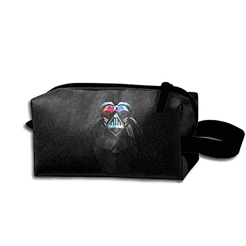 Cosmetic Bags Abstract Facets Star Wars Darth Vader Makeup Bag With Brush Pouch Portable Zipper Wallet Hangbag Pen For Girl And Woman Necessary -