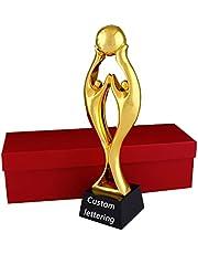 Met hars vergulde trofee Creatieve gouden man trofee Basketbal spel trofee Gratis belettering trofee Geschenkpakket