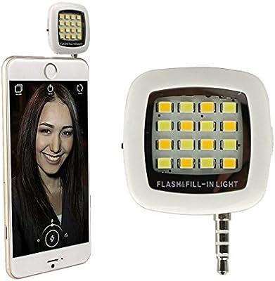 Luz Smartphone Flash,EONPOW NUEVO 3.5mm mini portátil de 16 LED ...