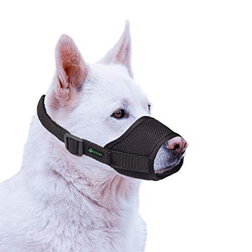 🥇 ILEPARK Bozal para Perros Cubierto con Malla Transpirable y Nailon Duradero