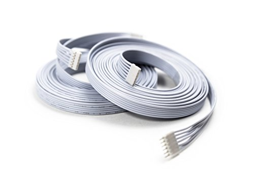 Extension Cable for Philips Hue Lightstrip Plus (10 ft/3 m, 2 Pack, White) by Litcessory