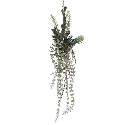 人工観葉植物 アレジメント着生47(12個セット) bb210 吊るしタイプ (代引き不可) インテリアグリーン 造花 HANGING B07SXGR9SC
