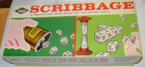 Vintage 1963 SCRIBBAGE Word Game By E.S. Lowe Company