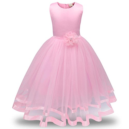 Beauty Pageants Dresses (Hot Sale!!Woaills 3-8M Flower Girl Princess Bridesmaid Pageant Tutu Tulle Gown Party Wedding Dress (3T, Pink))