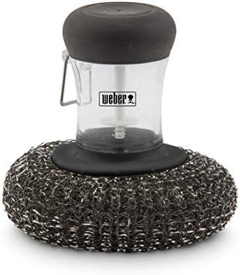 Weber Eponge métallique pour plancha, Noir