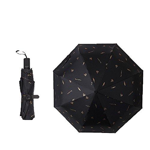 LybCvad Regenschirm Plain Lace Sonnenschutz Faltschirm kann gefaltet werden, blau 1 0 transparent grün Schwarz 3-fach Goldfolie Formel
