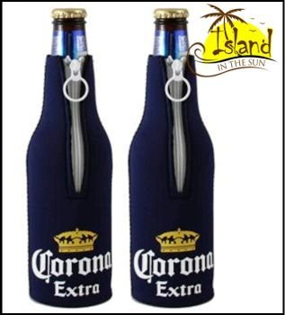 (2) Corona Extra Logo Beer Bottle Koozies Cooler