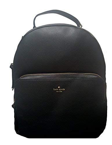 Kate Spade Women's Nicole Larchmont Avenue Black Leather Backpack [並行輸入品] B07K1HX539