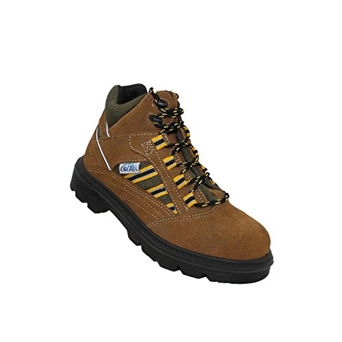 COFAN - Calzado de protección de Piel para hombre Marrón marrón marrón