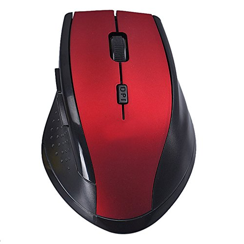 Yuemizi for PC and laptop 2.4GHz wireless optical gaming mouse and mouse for PC laptop rapa 7300 wireless mouse (Red)