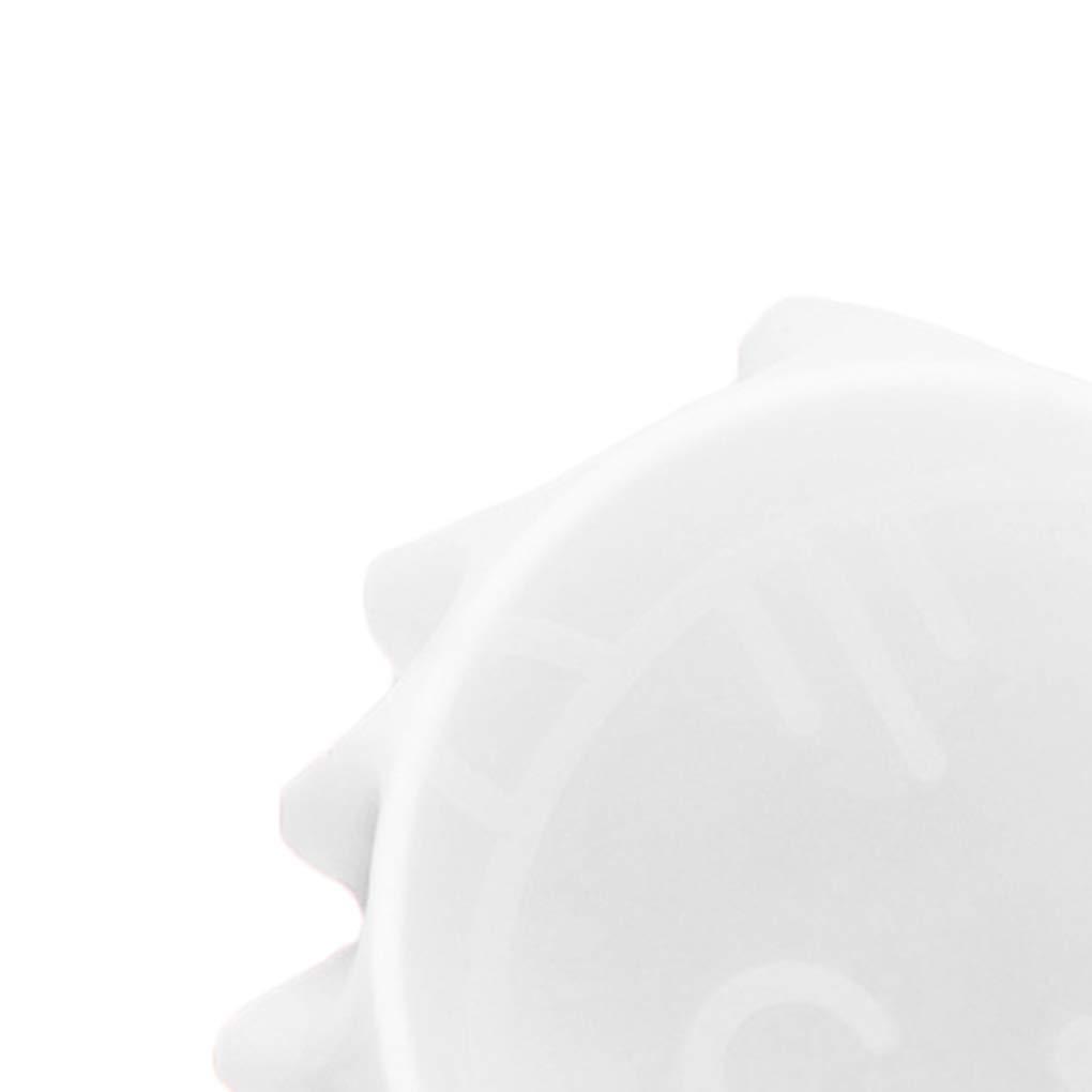 shangjunol Adherente Estirable de alimento de la pel/ícula de Silicona de Grado Fresco de Mantenimiento de la Cubierta del Horno microondas Herramientas Calefacci/ón Taz/ón Tapas de Cocina Blanco