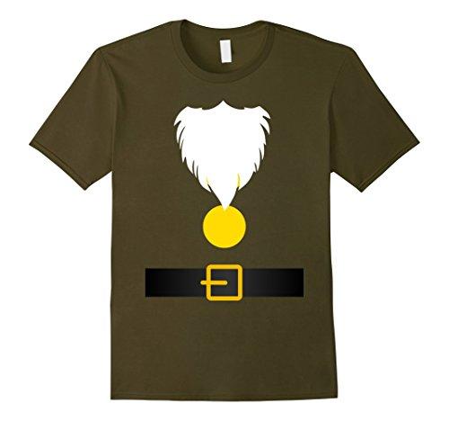Mens Funny Dwarf Costume T-Shirt for Halloween or Christmas Medium (Happy Dwarf Halloween Costume)