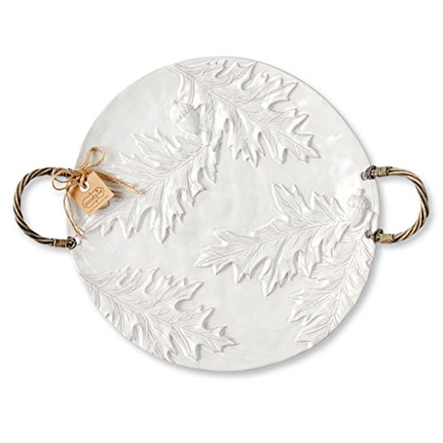 Mud Pie Oak Leaf Fall Thanksgiving Terracotta Round Platter