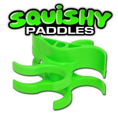 TECHT Paintball Squishy Paddles - Original Design [Cyclone Feed Hoppers] - Green by TECHT