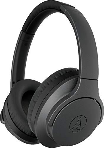 Audio Technica ATH ANC700BT QuietPoint Bluetooth Wireless Noise Cancelling High Resolution Audio Headphones, Black