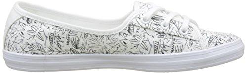 Lacoste Ladies Ziane Chunky 218 1 Ciabatta Sneaker Bianca (wht / Nvy 042)