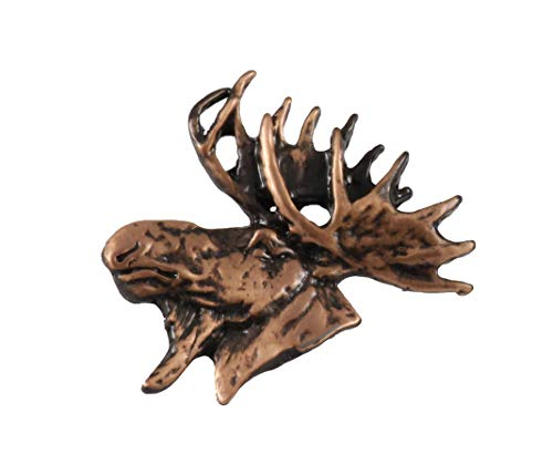 Creative Pewter Designs Moose Head Mammal Copper Plated Lapel Pin, Brooch, Jewelry, MC016