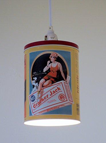 Cracker Jack tin plug-in pendant light