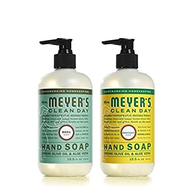 Mrs. Meyer's Clean Day Liquid Hand Soap Basil & Honeysuckle (2x12.5 fl oz)