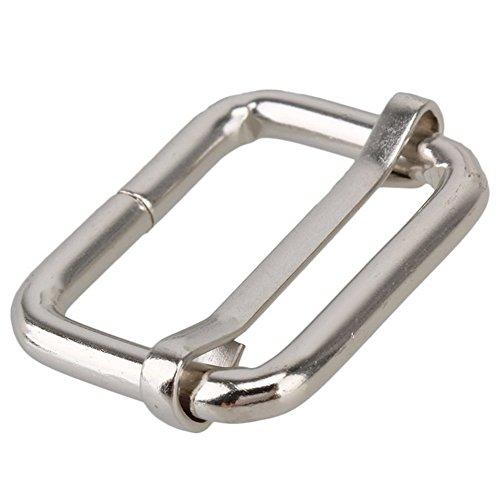 Tri-glides Buckles - TOOGOO(R) Metal Sliding Bar Tri-glides Wire-formed Roller Pin Buckles Slider 25mm Strap Adjuster Pack of 20