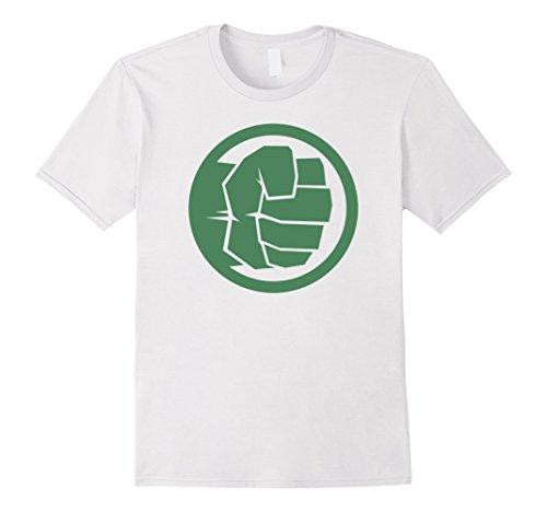 Fist Adult T-shirt (Mens Marvel Hulk Fist Tonal Icon Graphic T-Shirt Large White)