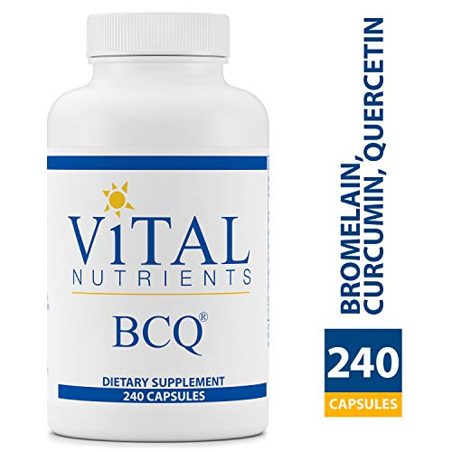 Vital Nutrients - BCQ (Bromelain, Curcumin & Quercetin) - Herbal Support for Joint, Sinus and Digestive Health - Gluten Free - 240 Capsules per Bottle (Miserable At Best Meaning)