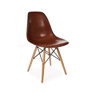 Vertigo Interiors USA 1 X Eames Style Classic Dsw Dowel Dining Lounge Side  Chair Coffee