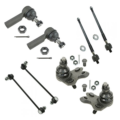 8 Piece Kit Inner Outer Tie Rod Sway Bar Link Ball Joint Set for Vibe Matrix AWD ()
