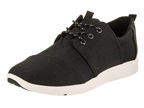 TOMS Women's Del Rey Sneaker Black Poly Canvas Oxford