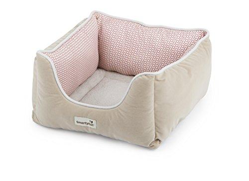SmartyKat Kitty Canyon Cat Bed, Red Circles, Soft Plush Cush