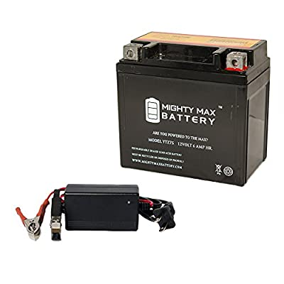 Mighty Max Battery YTZ7S 12V 6AH Battery for Gas 450 FSR450 2008 + 12V 1Amp Charger brand product