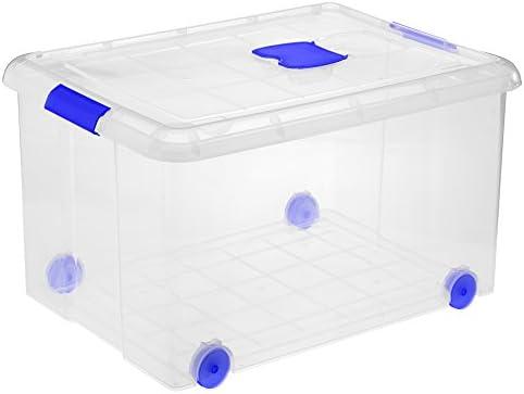 Great Plastic Caja Grande de plastico con Ruedas, Neutro, 60x44x32 ...