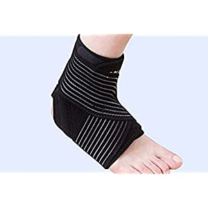 JoyFit - Adjustable Ankle Support with Elastic Compression Straps, Light weight Ankle Brace Relieve Plantar Fasciitis, Swollen Feet, Best Ankle Support for Every day Wear For Both Men and Women