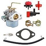 MDAIRC 640152 Carburetor for Tecumseh 640152A 640023 640051 640140 640260B HM80 HM90 HM100 8hp -10hp Tecumseh Engine Coleman PowerMate 5000 watt Generator Carb with Spark Plug kit