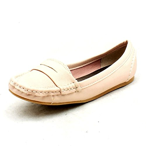 Pink flat ladies pumps style shoes loafer q6q4w1X