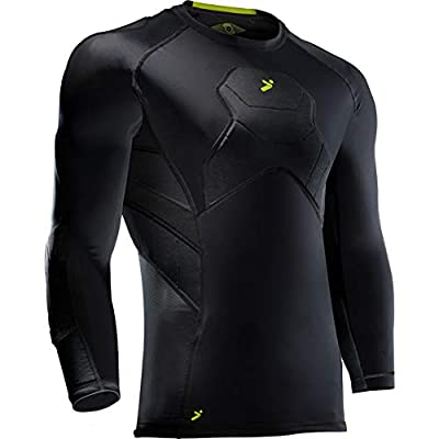 Storelli BodyShield Goalkeeper 3/4 Undershirt | Lightweight Compression Soccer Shirt | Chest Protector | Elbow and Shoulder Padding