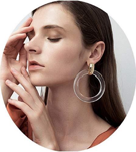 GUYUEXING Clear Resin Hoop Earrings, Large Acrylic Hoop Earrings for Women Girls