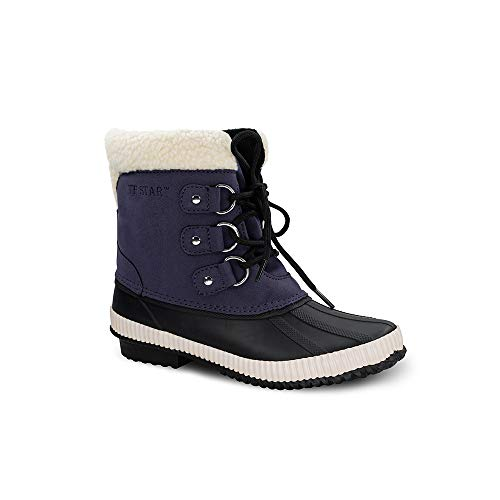 TF STAR Women's Ankle Calf Comfortable lace up Waterproof Bean Boots, rain Winter Snow Duck Boots for Women.